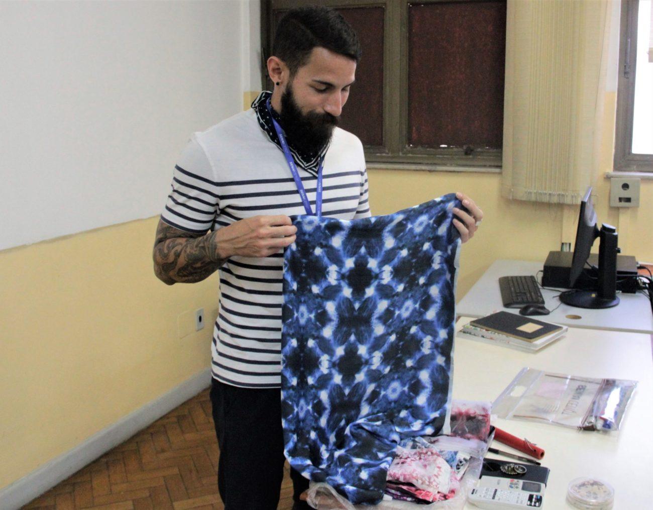 Breno Abreu – novo professor de Padronagem do curso Design de Moda do SENAI CETIQT.